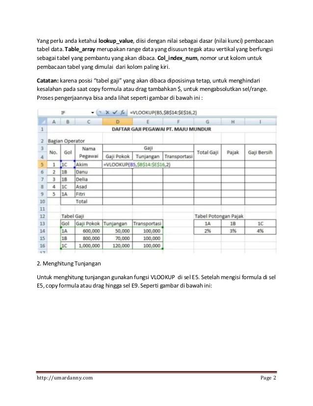 Penggabungan Rumus If Dan Vlookup : penggabungan, rumus, vlookup, Contoh, Excel, Vlookup, Hlookup, Kumpulan, Pelajaran