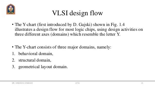 Vlsi design flow  the  chart also rh slideshare