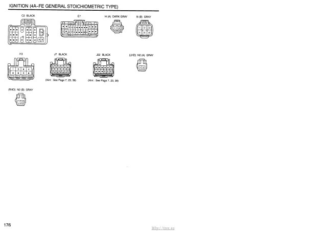 1977 toyota corona electrical wiring diagram original jan 77