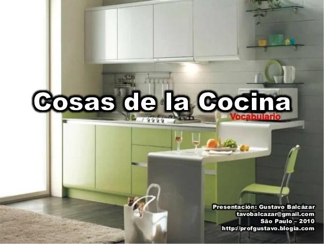 Vocabulario Cosas De La Cocina