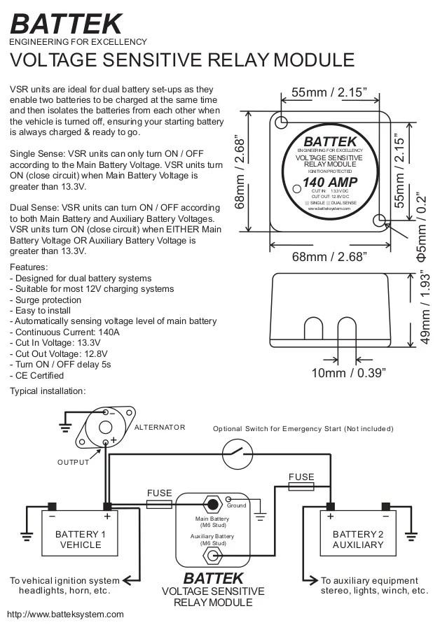 battek voltage sensitive relay module datasheet
