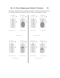 The gallery for --> Graduated Cylinder Displacement Worksheet