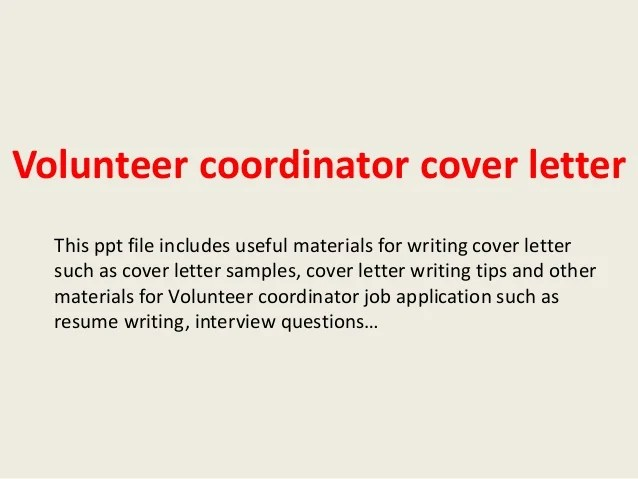 staffing coordinator cover letter