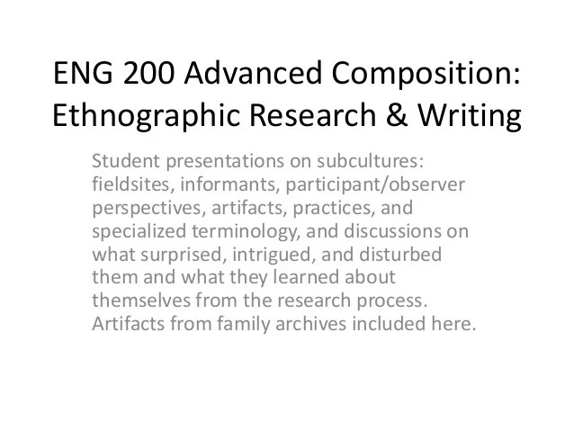 Ethnographic Research Paper Examples Dissertationsynonym