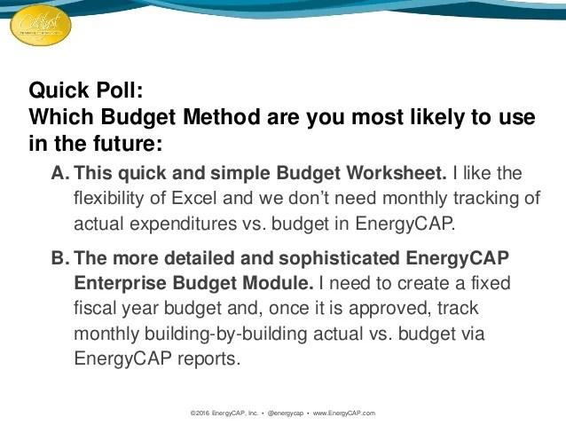 Catalyst 2016: New Budget Worksheet Tool