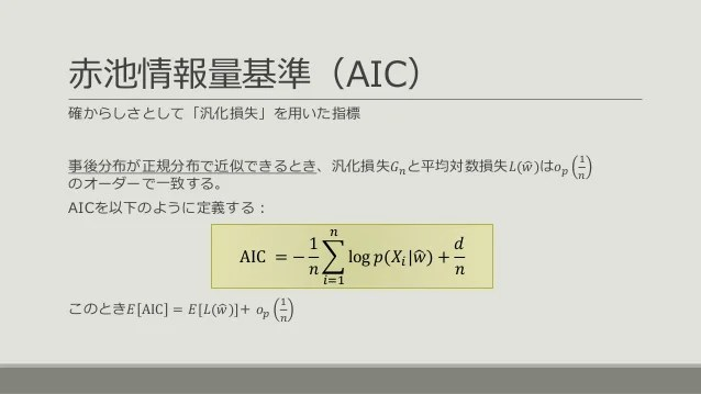 Images of 赤池情報量規準 - JapaneseClass.jp