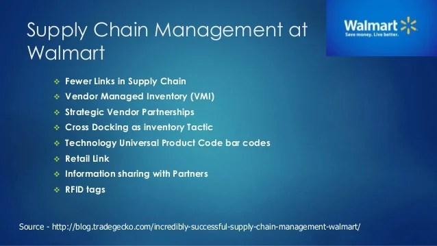 Supply chain management at walmart also rh slideshare