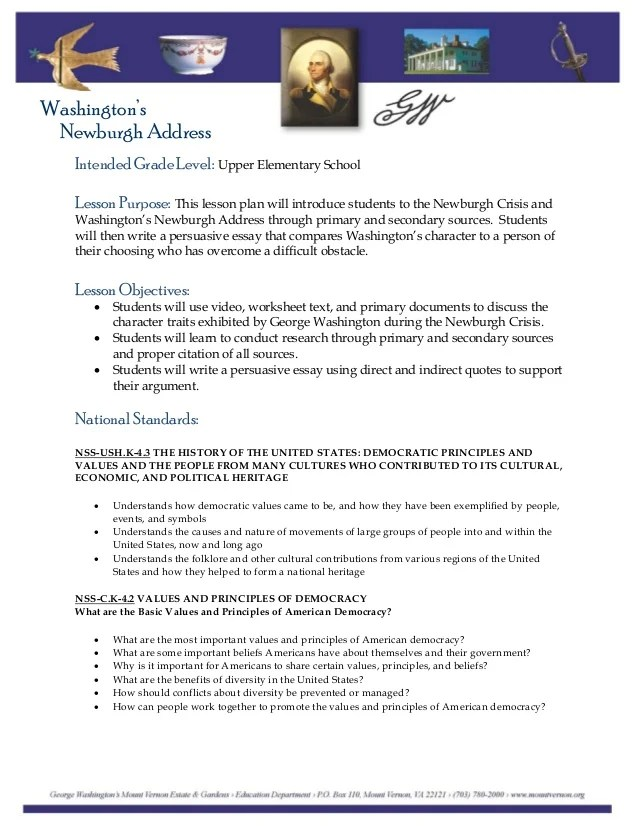 Washington's Newburgh Address