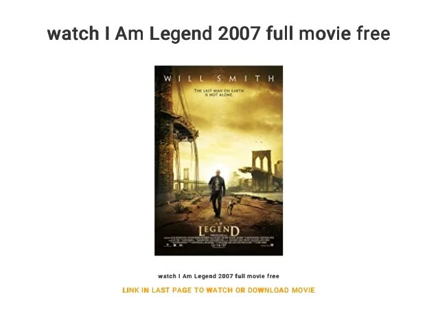 watch i am legend