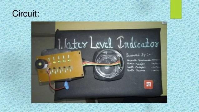 Simple Water Level Indicator Circuit Diagram