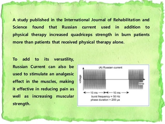 WAVEFORMS USED IN ELECTRICAL STIMULATION THERAPY