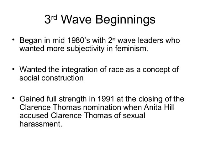 waves of feminism