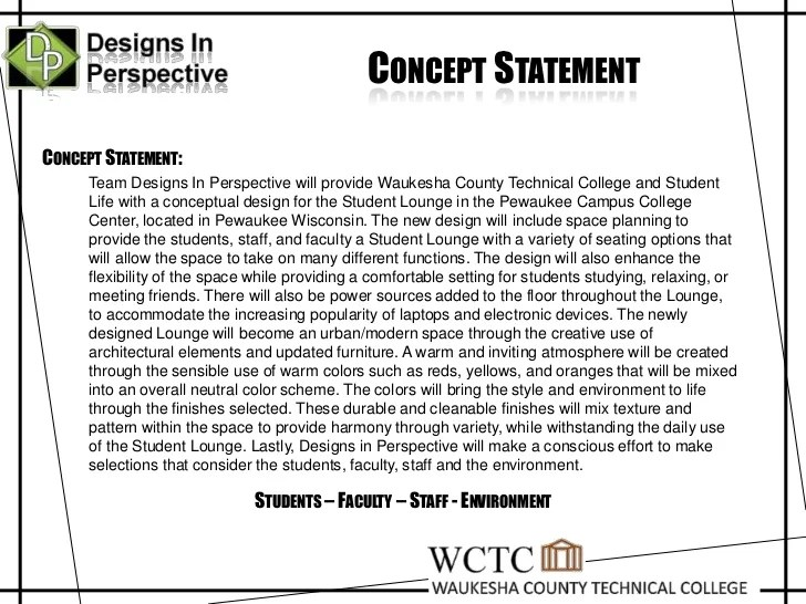 What Is a Design Concept Statement?