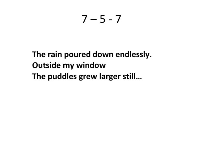 Haiku Poem Examples 5 7 5 Poemview