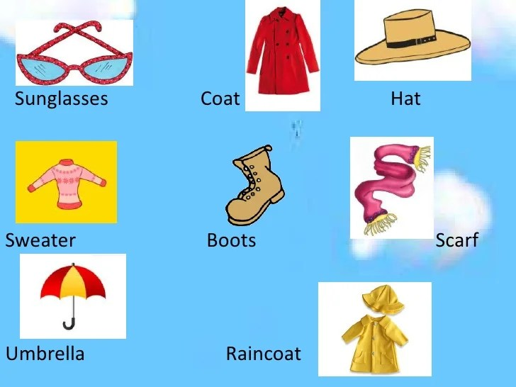 also weather clothes and seasons rh slideshare