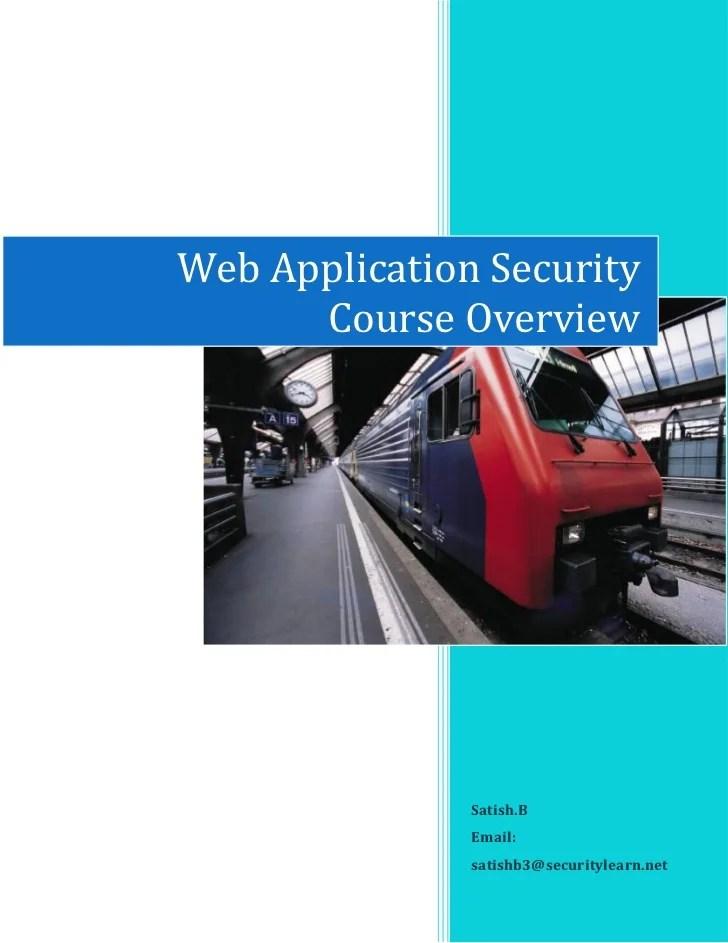 Web Security Course Online