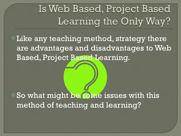 Web Based Project Based Learning