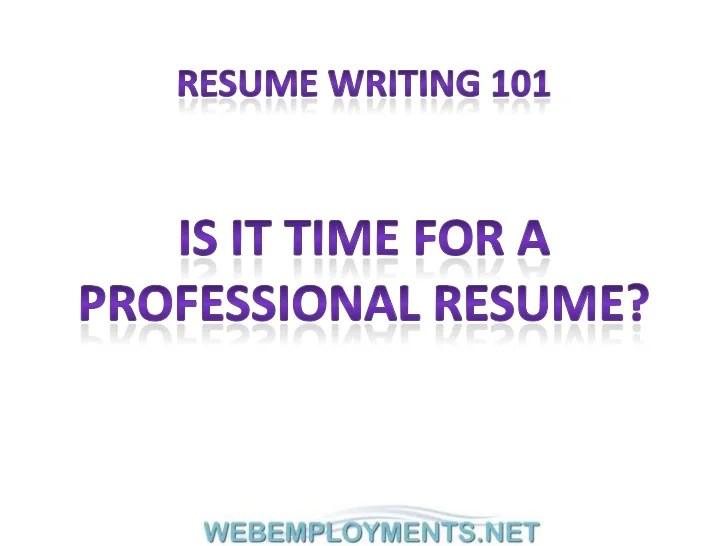 Webemploymentsnet resume writing 101