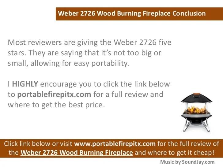 Weber 2726 Wood Burning Fireplace