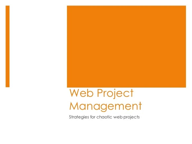 Web Project Management Todcon2008
