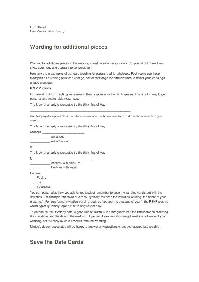 Unique Wedding Invitation Wording Examples