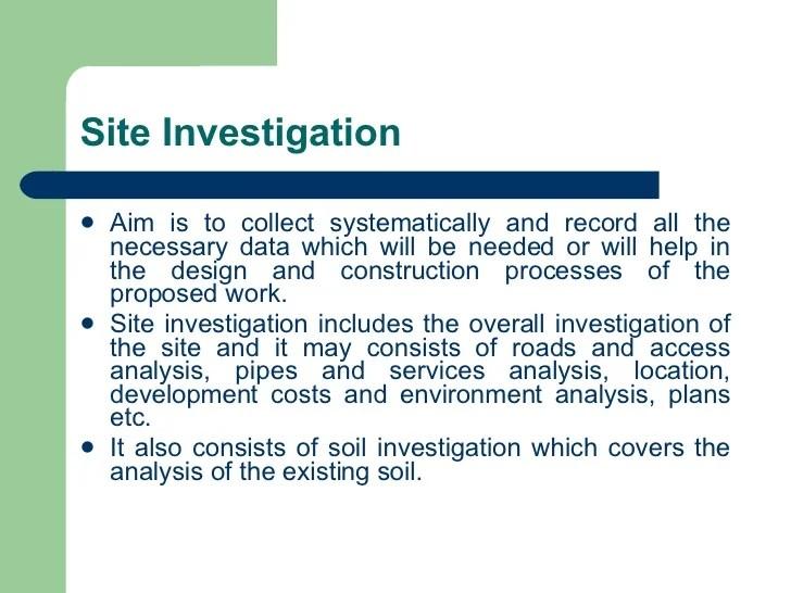 Week 01 Preliminaries Works Soil Investigate Ground