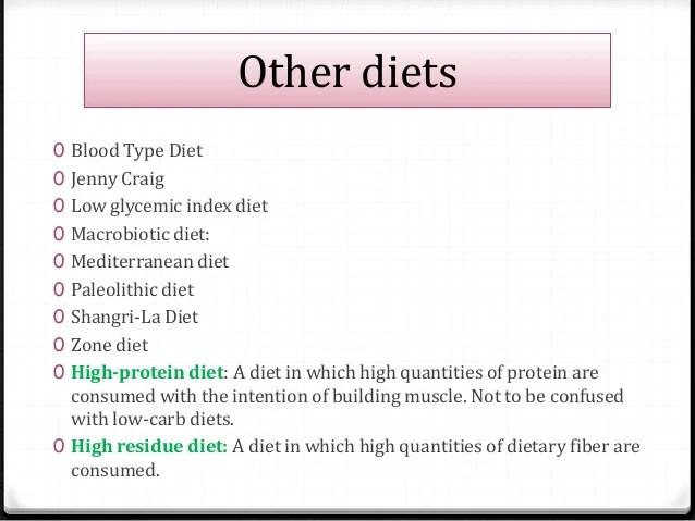 Blood type diet also weight loss diets rh slideshare