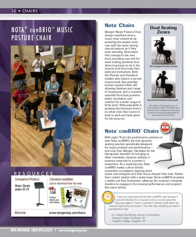 wenger orchestra chair folding attached to wall chairs and stands nota standard corporation