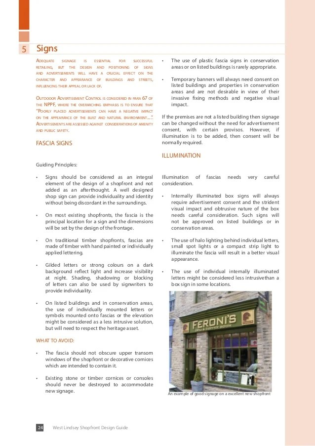West Lindsey Shopfront Design Guide Draft