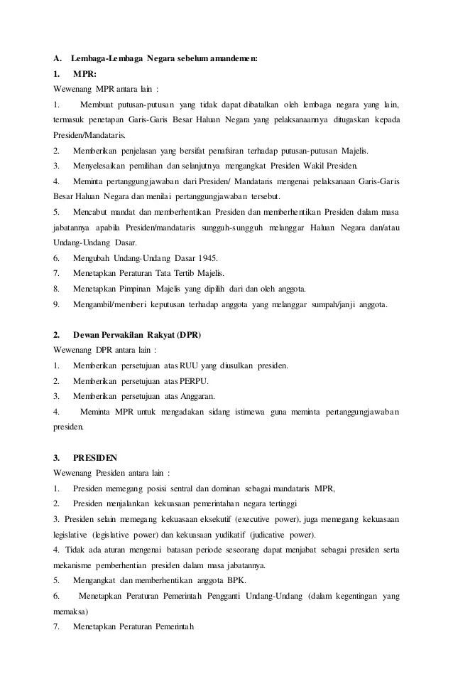 Tugas Dan Wewenang Mpr Sebelum Amandemen : tugas, wewenang, sebelum, amandemen, Wewenang