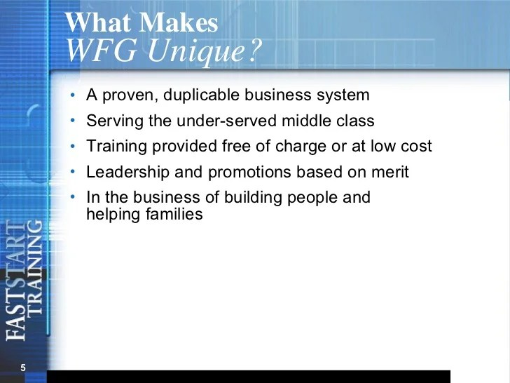 what makes wfg also presentation rh slideshare