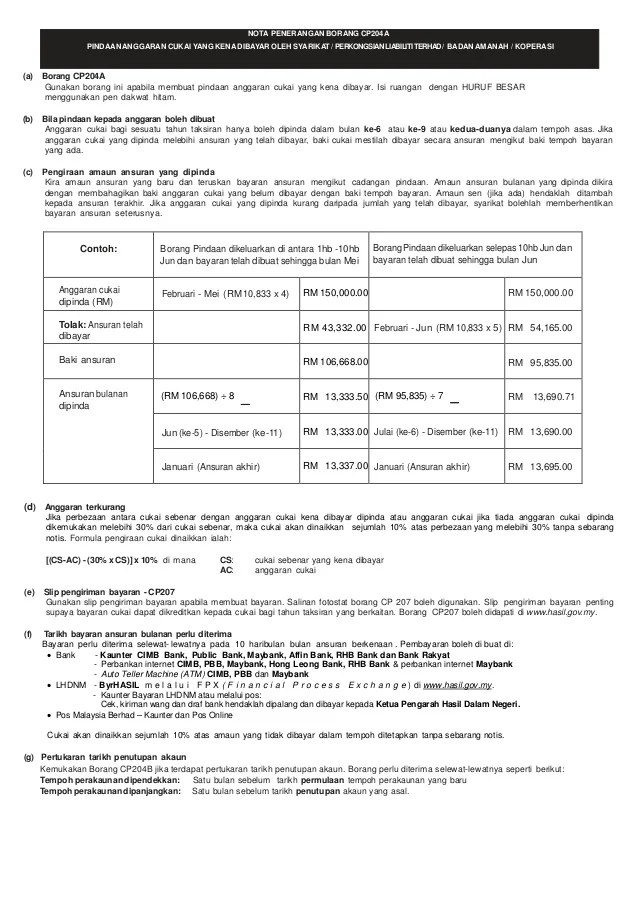 Contoh Bornag Be What And When To Submit Return Under Cuitan Dokter