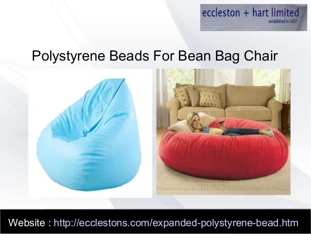 bean bag chair refill beads black lycra covers hire what are polystyrene