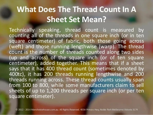 What Does The Thread Count In A Sheet Set Mean?