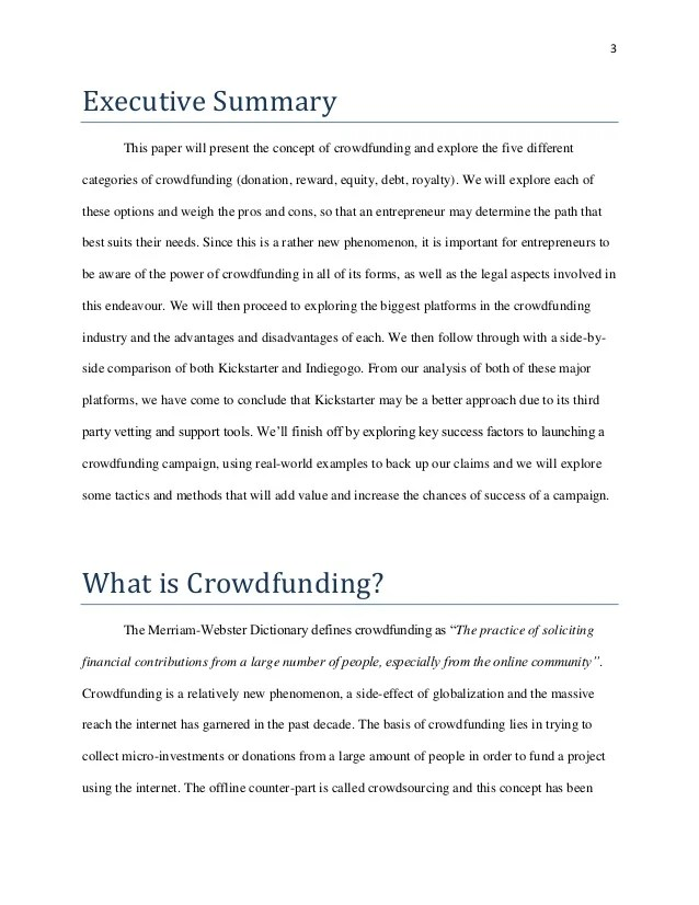 What Is Crowdfunding Research Paper