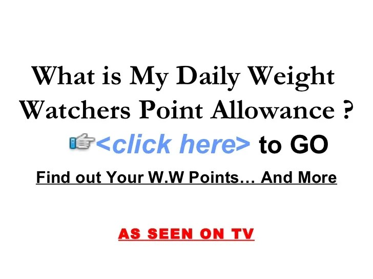 what is my daily weight watchers point allowance 1 728 cb 1246684754