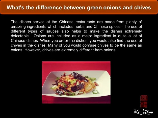 What's the difference between green onions and chives
