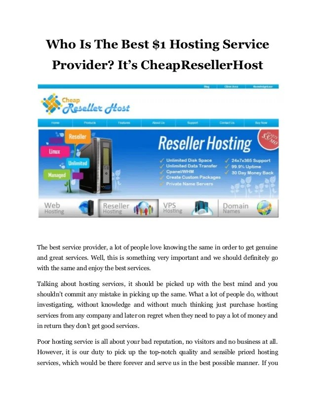 Who Is The Best $1 Hosting Service Provider It's Cheap