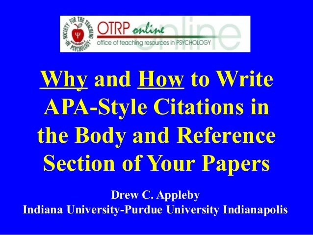 how to write apa style papers