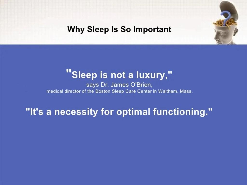 Sleep Is Not A