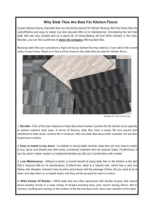 why slate tiles are the best for