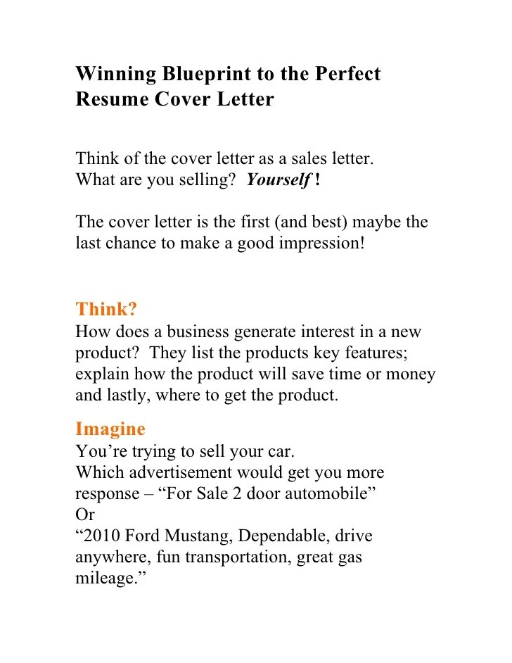 How To Make The Perfect Resume And Cover Letter