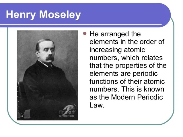 Modern Periodic Table By Henry Moseley Microfinanceindia