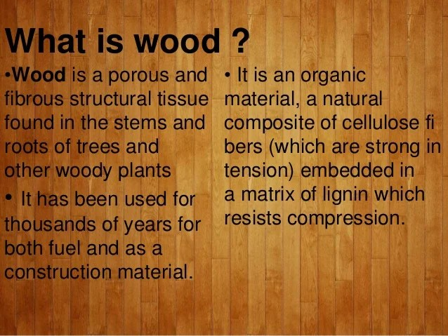 Wood And It's Types