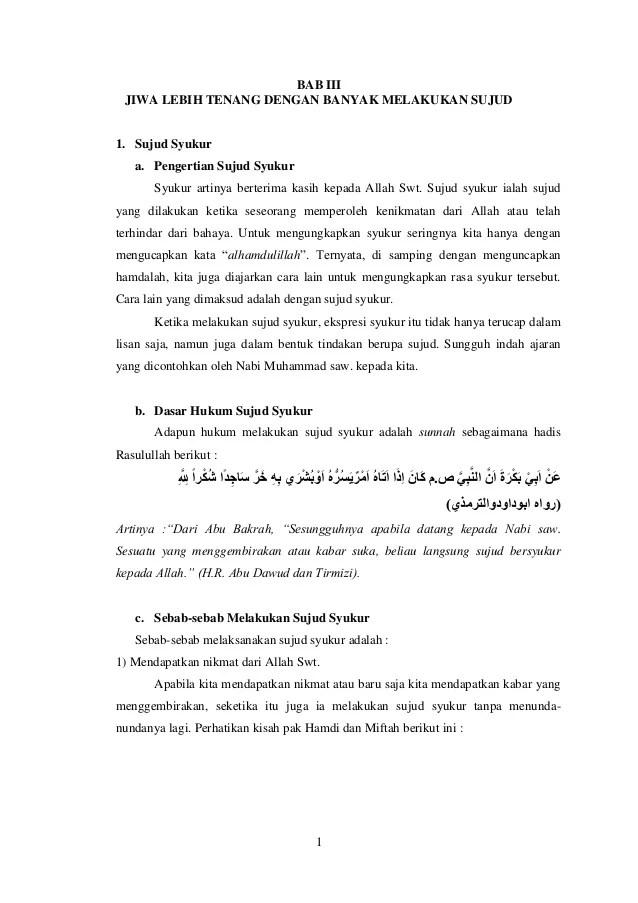 Pembahasan Lengkap Mengenai Sujud Syukur dan Sujud Tilawah...