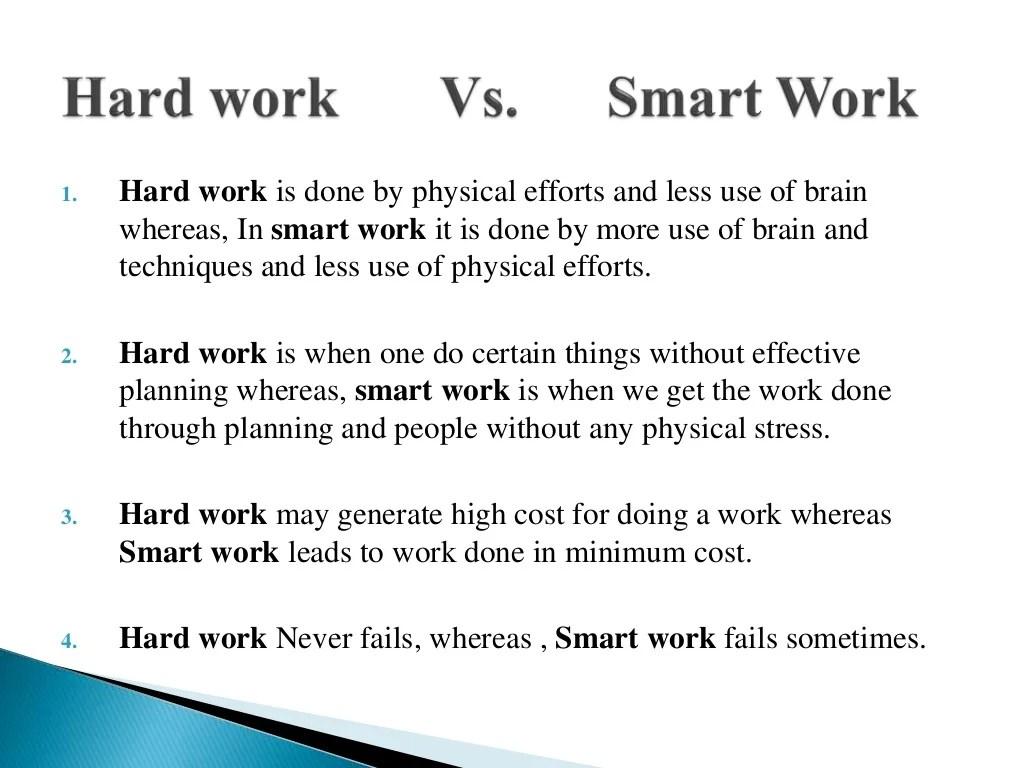 Work Hard Vs Smart Work