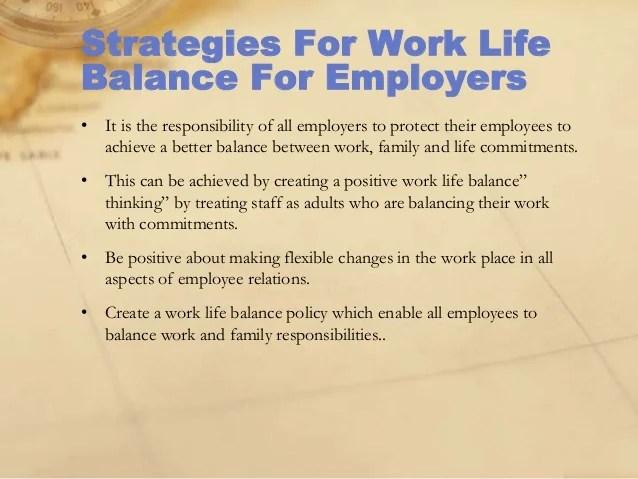 Work life presentation final