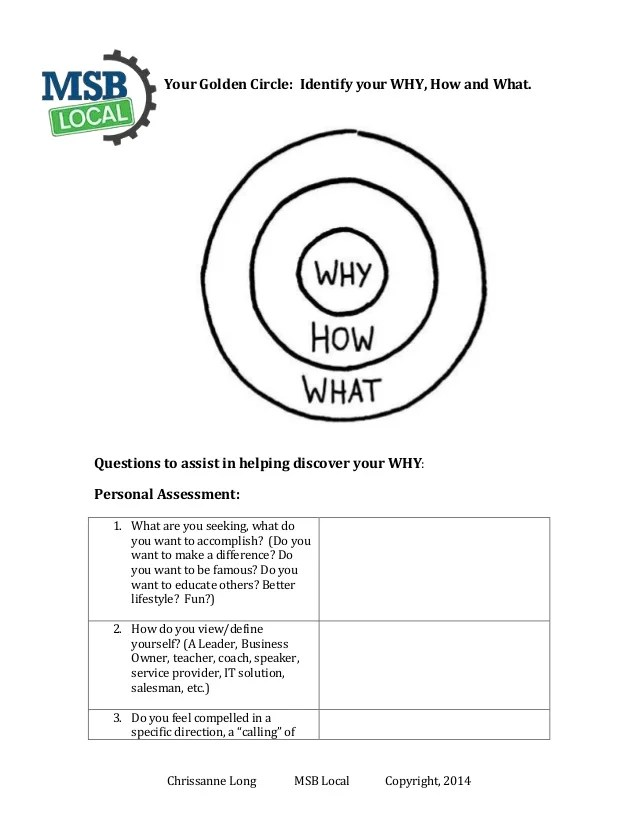 Start With Why Worksheet : start, worksheet, Start, Worksheet, Project