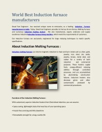 World best induction furnace manufacturers