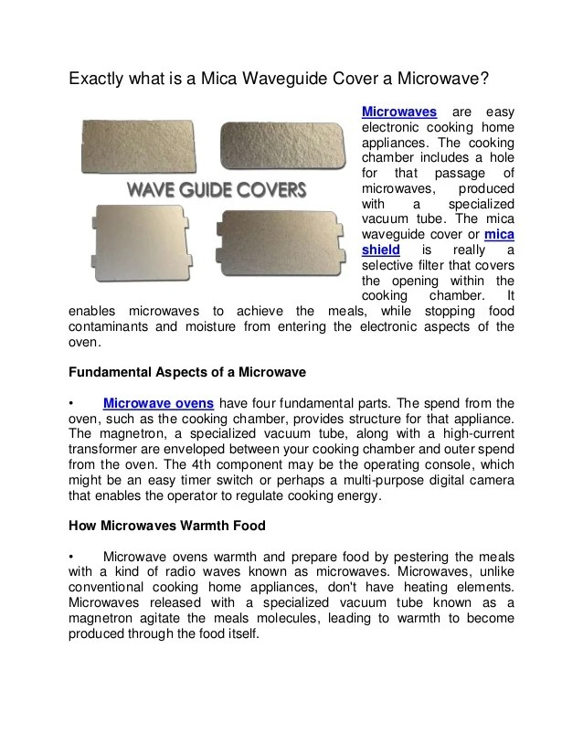 mica waveguide cover a microwave